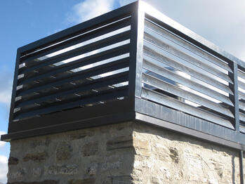 Proprietary chimney cowl - Queenstown Residence