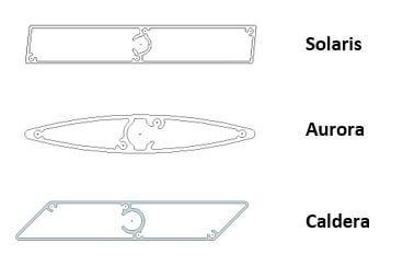 Solaris, Aurora and Caldera louvre profiles by Aurae