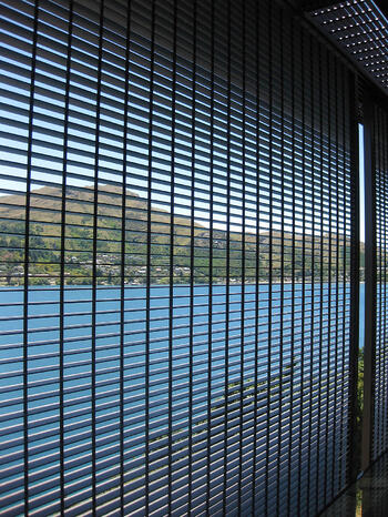 Grated sliding shutters - Willow Place