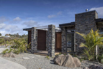 Cable Bay Residence Door Side View