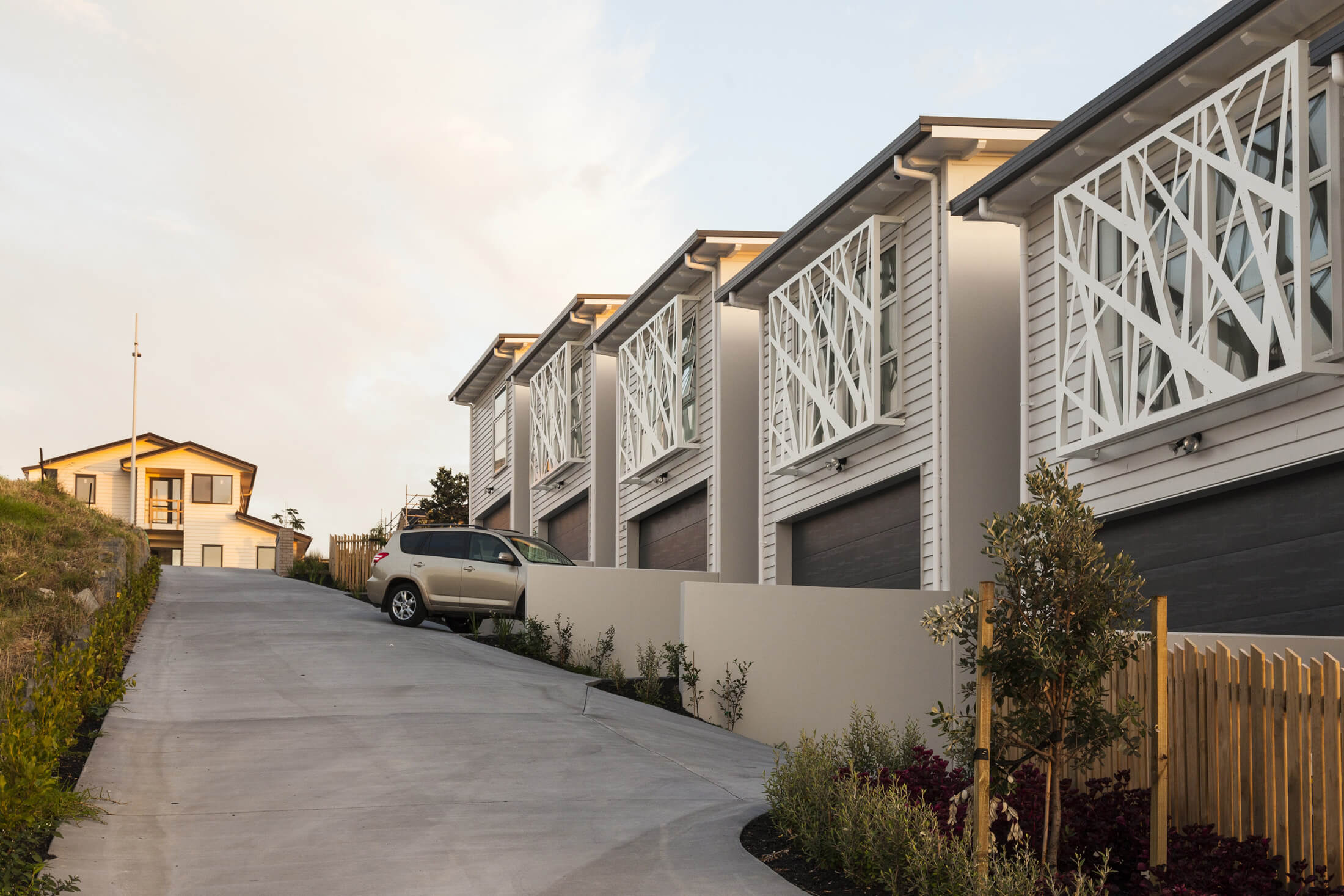 Custom screens on Auckland townhouses