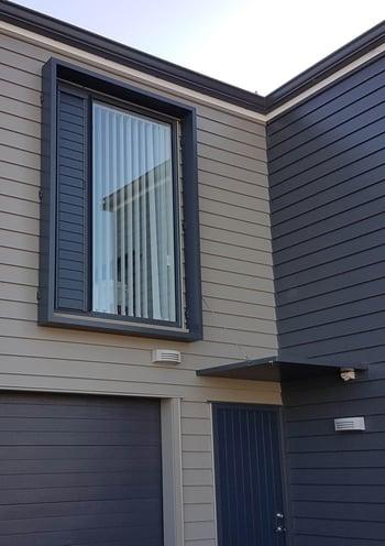 Aluminium window hood - Hobsonville