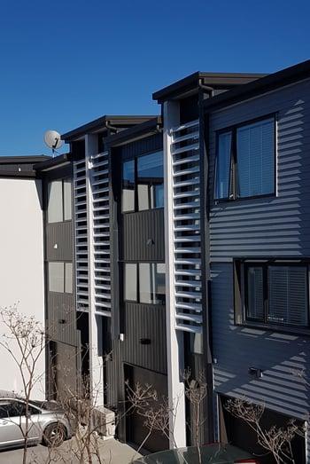 Aluminium window hoods - 124 Hobsonville Road