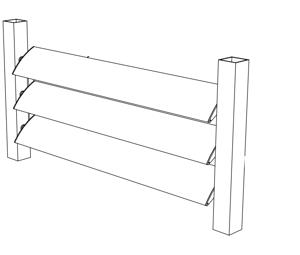 Aluminium louvre blades