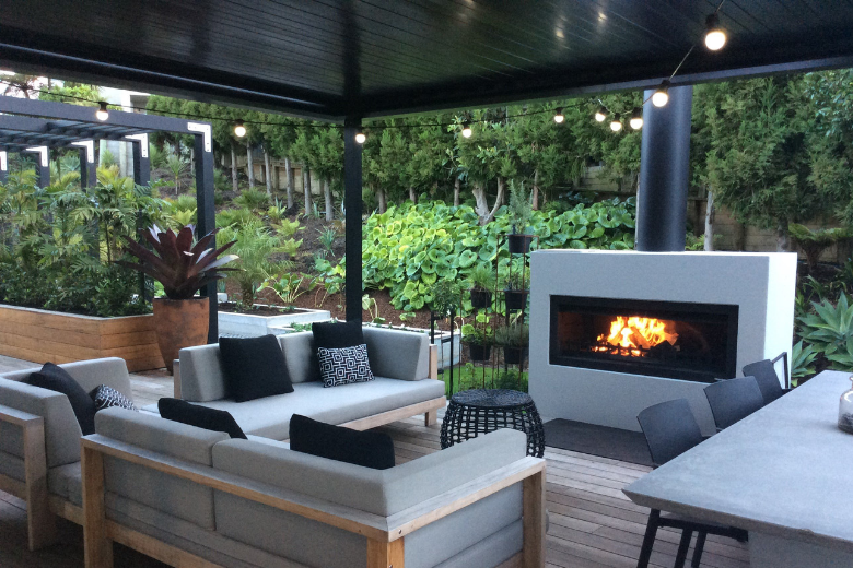 Trendz outdoor fireplace