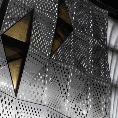 Aurae dapple perforated screens