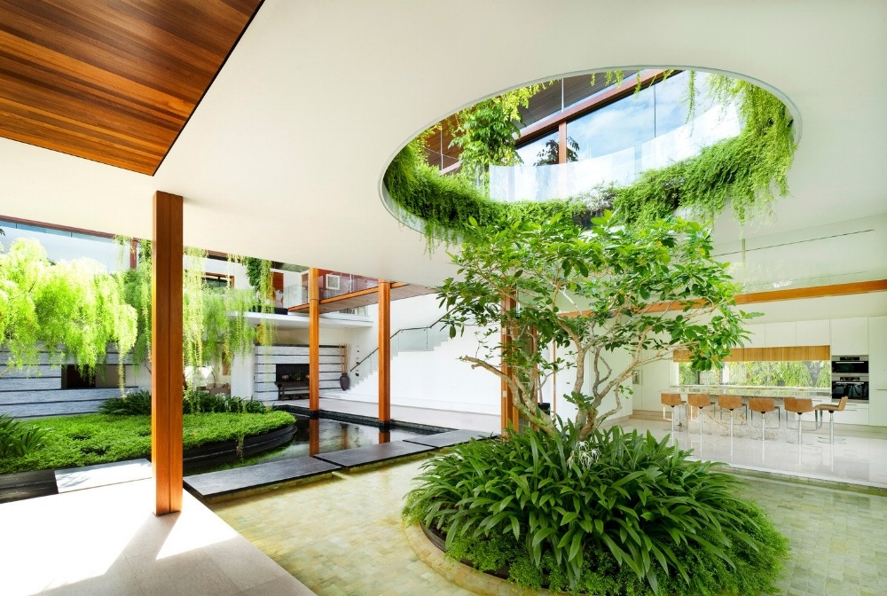 Using greenery indoors to connect occupants to nature