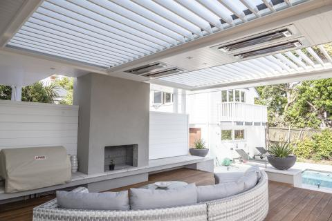 Aurae blinds, lights and heaters