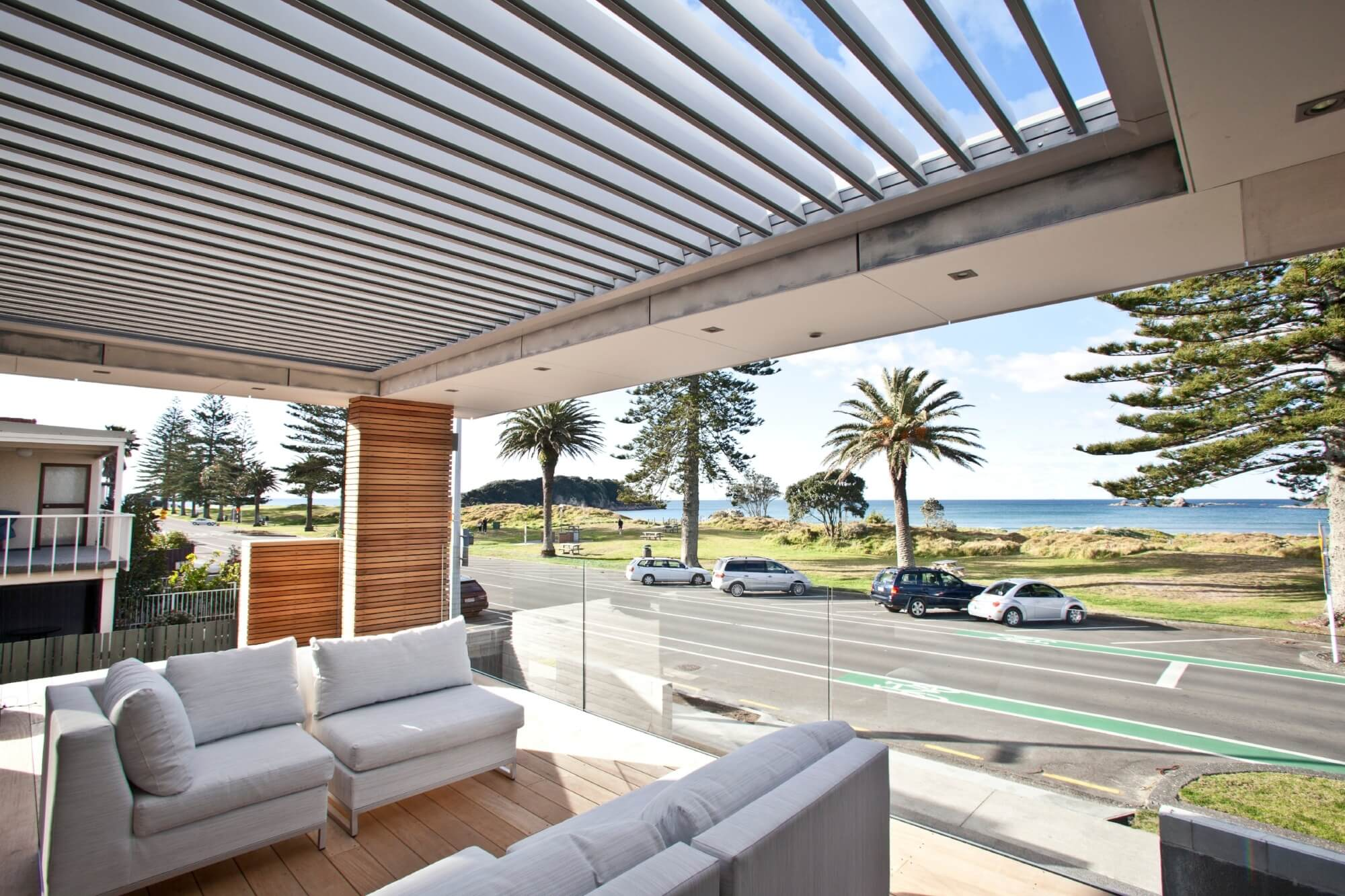 louvre pergola coastal NZ