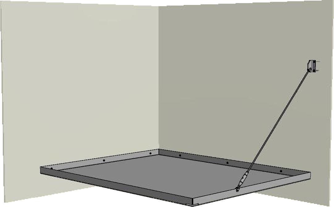 Horizon corner entrance canopy