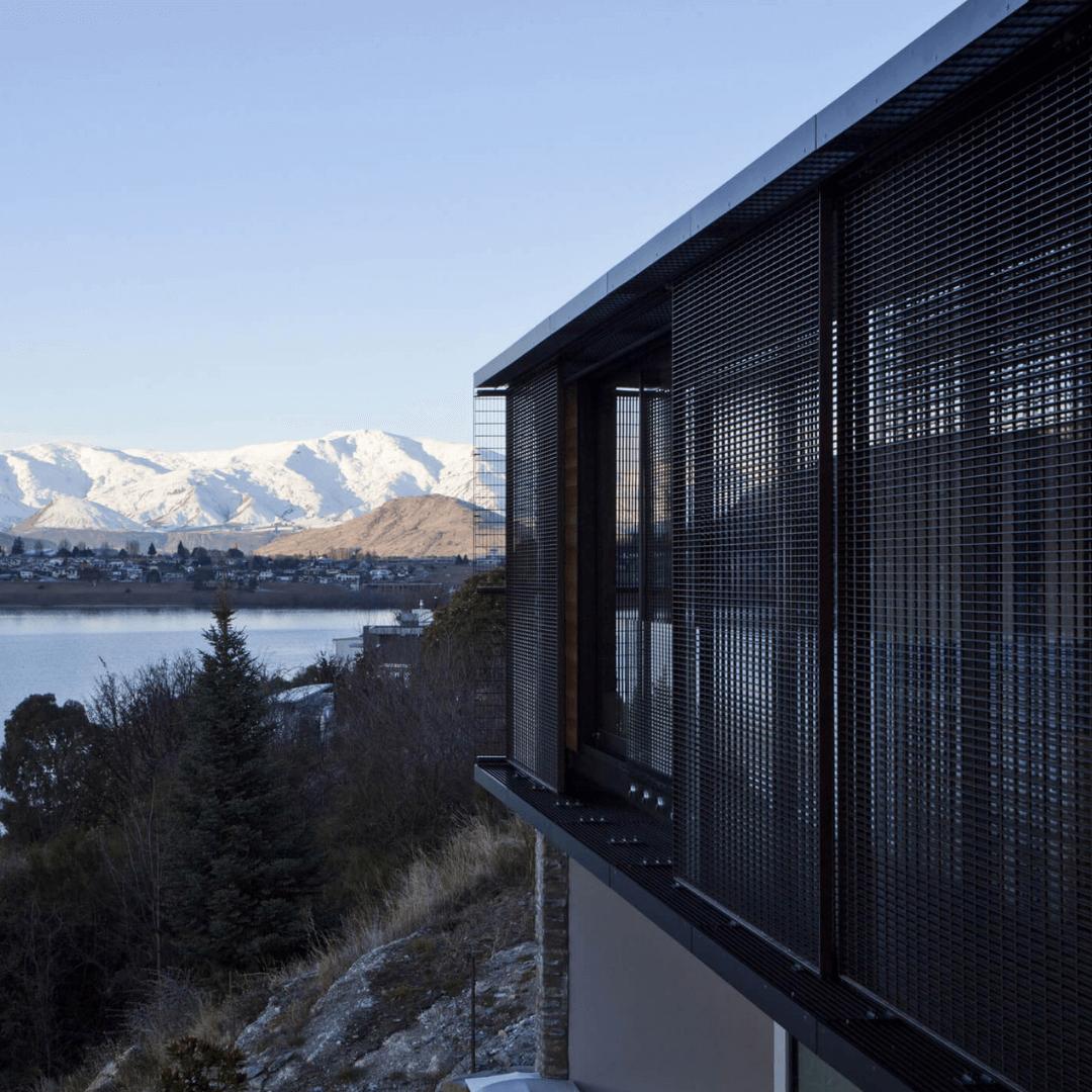 Aurae grated sliding shutters