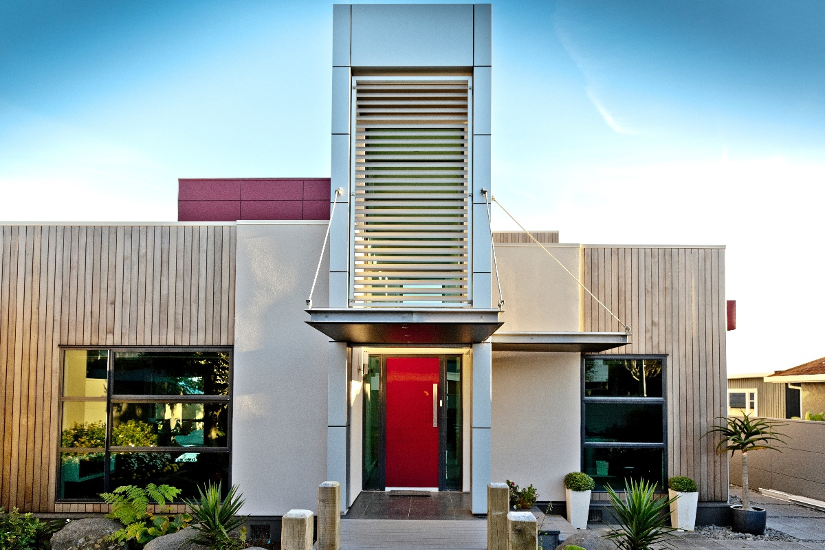 Fixed louvres Wallin residence