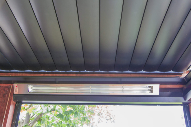 Aurae opening louvre roof and heater project