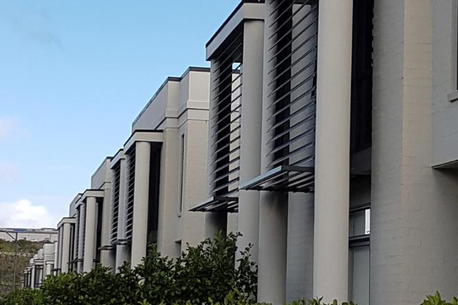 Aluminium louvre facade products for a housing development