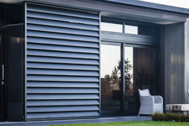 Sliding shutters for sun shade and privacy