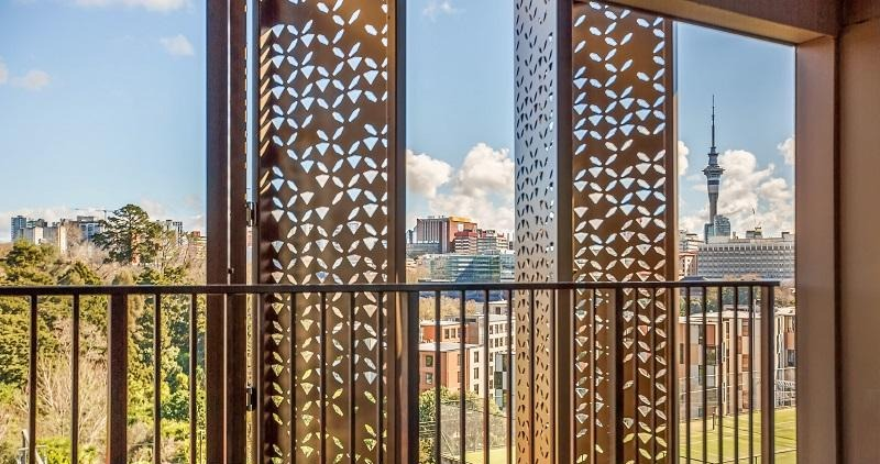 Perforated screens used for sliding shutters