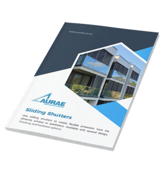Aurae sliding shutters brochure