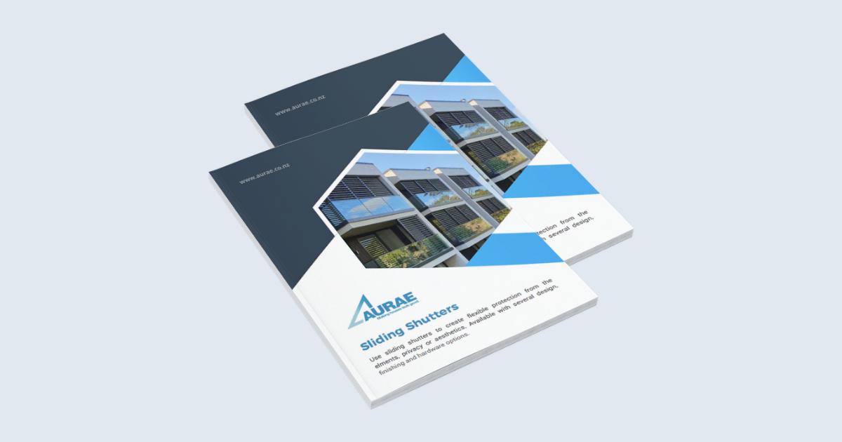 Aurae sliding shutters brochure